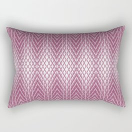 Icy Pink Frosted Geometric Relief Design Rectangular Pillow