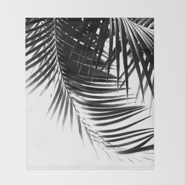 Palm Leaves Black & White Vibes #1 #tropical #decor #art #society6 Throw Blanket