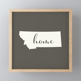Montana is Home - White on Charcoal Framed Mini Art Print