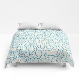 Puzzle Drawing #1 Comforters