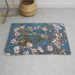 Vincent van Gogh Pink Blossoming Almond Tree (Almond Blossoms) Rug