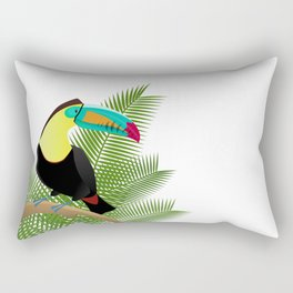 Bright Toucan bird in jungle Rectangular Pillow