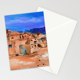 Taos Pueblo Village Stationery Cards