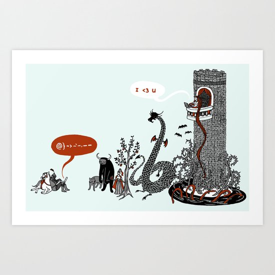 UR in my Top 8 Art Print