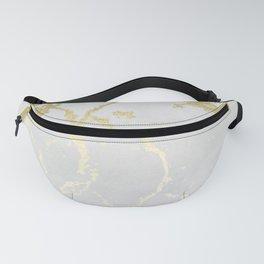 Kintsugi Ceramic Gold on Lunar Gray Fanny Pack
