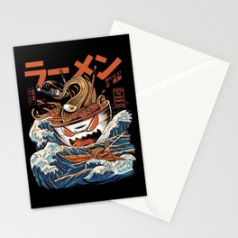 The black Great Ramen Stationery Cards