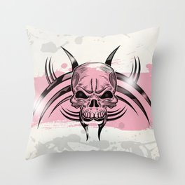 Skull tattoo design Throw Pillow
