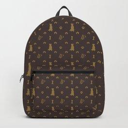 Louis Pitbull Luxury Dog Bling Pattern Backpack