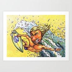 Brazilian Surf Boy Art Print