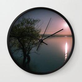 Moonrise over Sandbanks Wall Clock