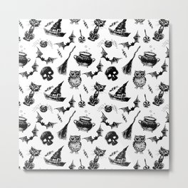 Halloween pattern design Metal Print