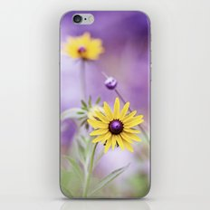 Purple Yellow Flower Photography, Violet Floral Green Nature iPhone & iPod Skin