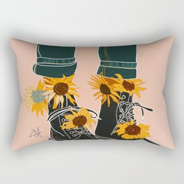 Sunflowers and Boots Rectangular Pillow
