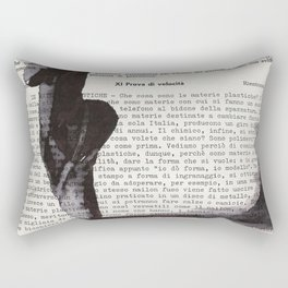 On toes - ink drawing Rectangular Pillow
