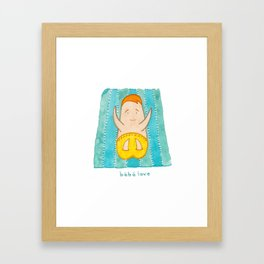 bebe love Framed Art Print