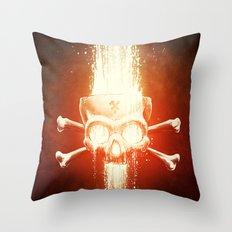 Black Smith Throw Pillow