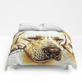 Yellow Labrador Retriever on Door Comforters