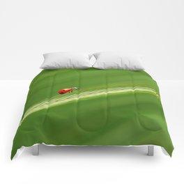 Ladybug green 74 Comforters
