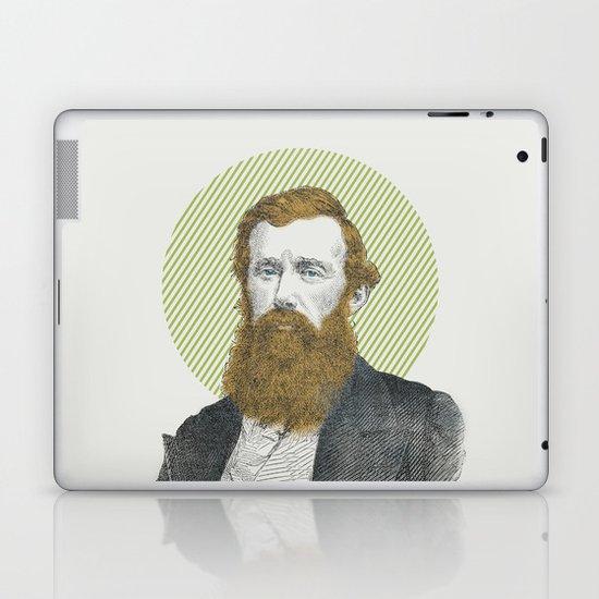 Blue Eyes, Red Beard, Gray Suit Laptop & iPad Skin