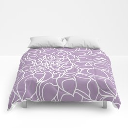 Chrysanthemum Lavender Collection Comforters