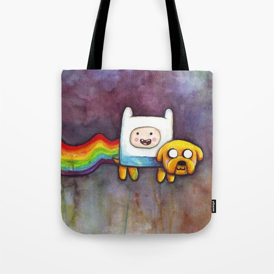 Nyan Time with Jake and Finn Tote Bag