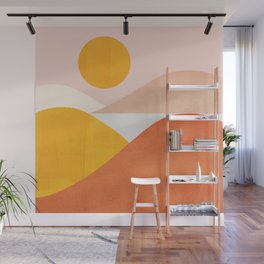 Abstraction_Mountains Wall Mural