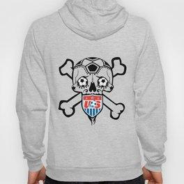 USA Soccer Team Sugar Skull themed logo. Hoody