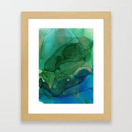 Ocean gold Framed Art Print