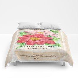 Dahlia Seed Packet Comforters