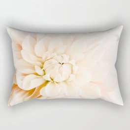 Vanilla Truffle Dahlia Rectangular Pillow