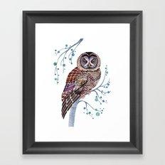 lacy owl Framed Art Print