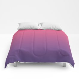Bright Pink Ultra Violet Gradient | Pantone Color of the year 2018 Comforters