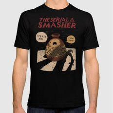 the serial smasher Mens Fitted Tee MEDIUM Black