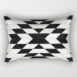 Urban Tribal Pattern No.15 - Aztec - White Concrete Rectangular Pillow