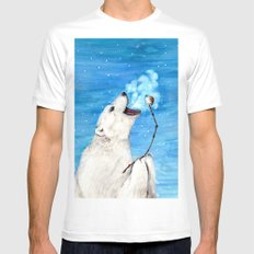 Polar Bear with Toasted Marshmallow White Mens Fitted Tee MEDIUM