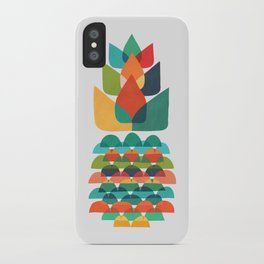 Colorful Whimsical Ananas iPhone Case