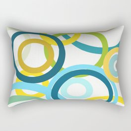 HAPPY CIRCLES Rectangular Pillow