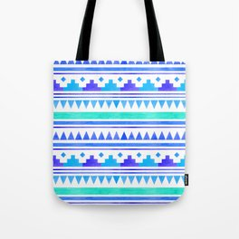 Seamless watercolor geometric pattern in native american style. Boho design Tote Bag