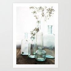 Aqua Glass - Vintage Art Print