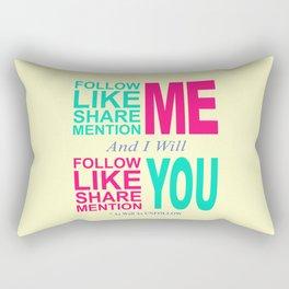 Follow Me Color Rectangular Pillow