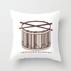 4/4 time  Throw Pillow