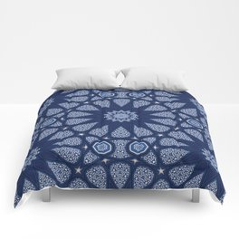 Navy and White Comforters