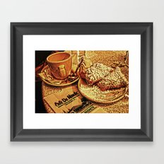 Coffee and Beignets at the Cafe du Monde Framed Art Print