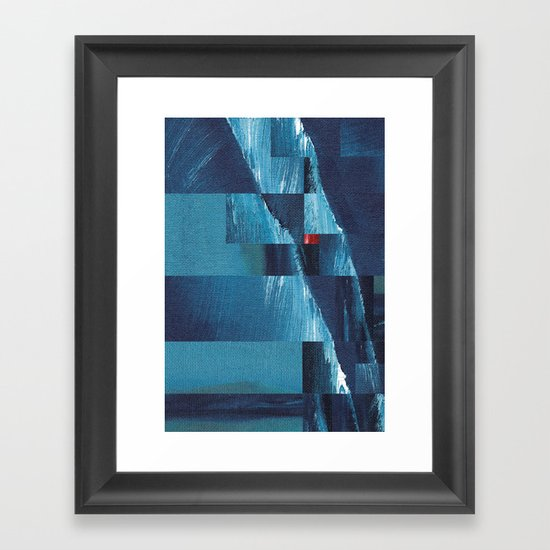 Cracking Waves (Distant Shore) Framed Art Print