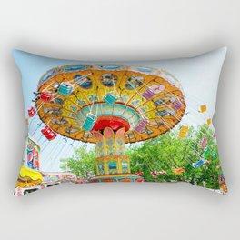 National Cherry Festival - Traverse City, Michigan - Arnold Amusements Rectangular Pillow