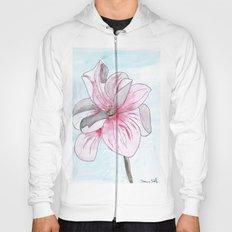 Magnolia Flower watercolor Hoody