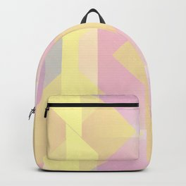 Happy Yellow Midcentury Modern Geometry Backpack