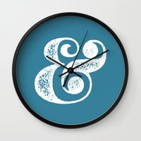ampersand Wall Clocks featuring Ampersand by AndyGD