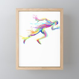 Sprinter track and field sprint runner  sport Framed Mini Art Print