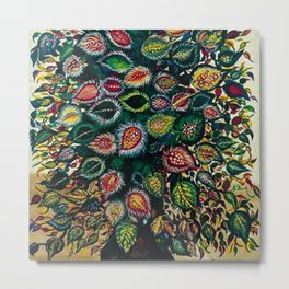 Feuilles - Leaves and Flowers by Seraphine Louis Metal Print